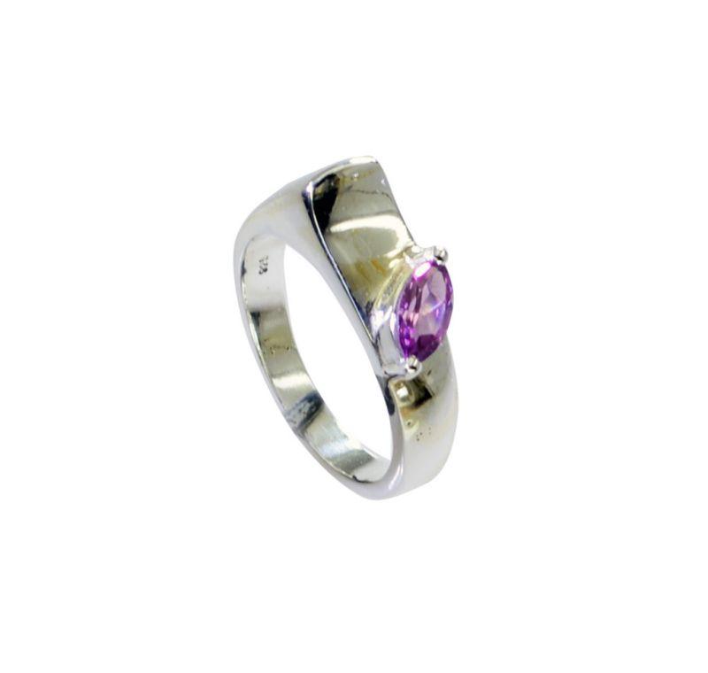 Buy Riyo Amethyst Classic Silver Jewellery Cheap Silver Ring Sz 8.5 Srame8.5-2164 online