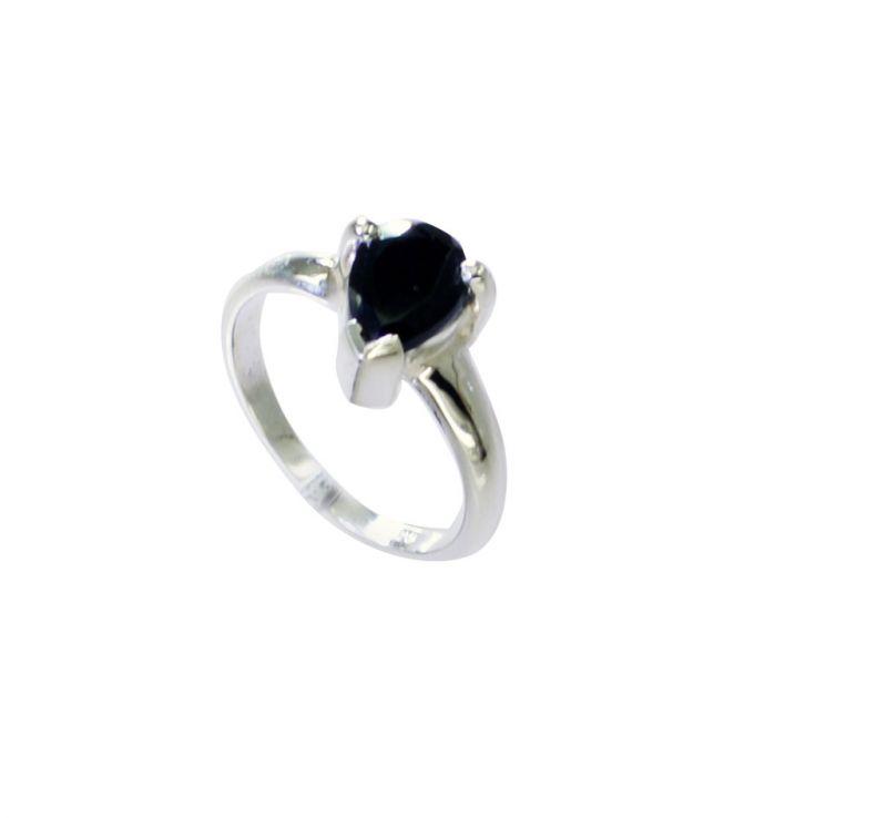 Buy Riyo A Black Onyx 925 Solid Sterling Silver Flattering Ring Srbon5-6029 online