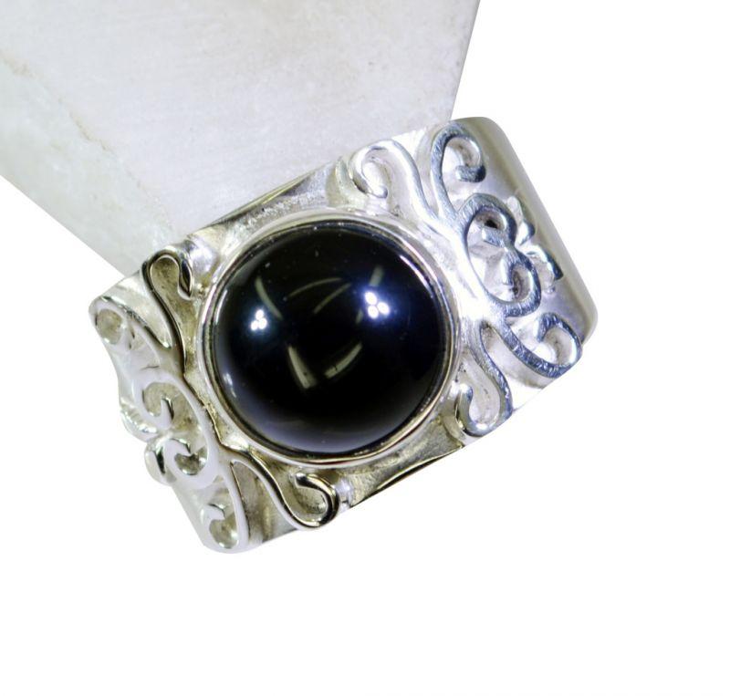 Buy Riyo Black Onyx Famous Silver Designers Silver Ring Sz 8 Srbon8-6016 online