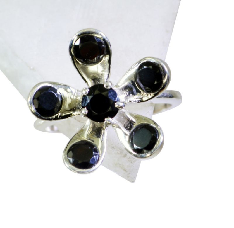 Buy Riyo Black Onyx Fashion Silver Jewelry Silver Ring Band Sz 8 Srbon8-6019 online