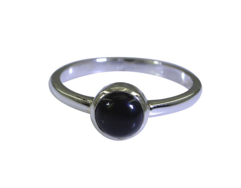 Buy Riyo A Black Onyx 925 Solid Sterling Silver Glamorous Ring Srbon80-6052 online