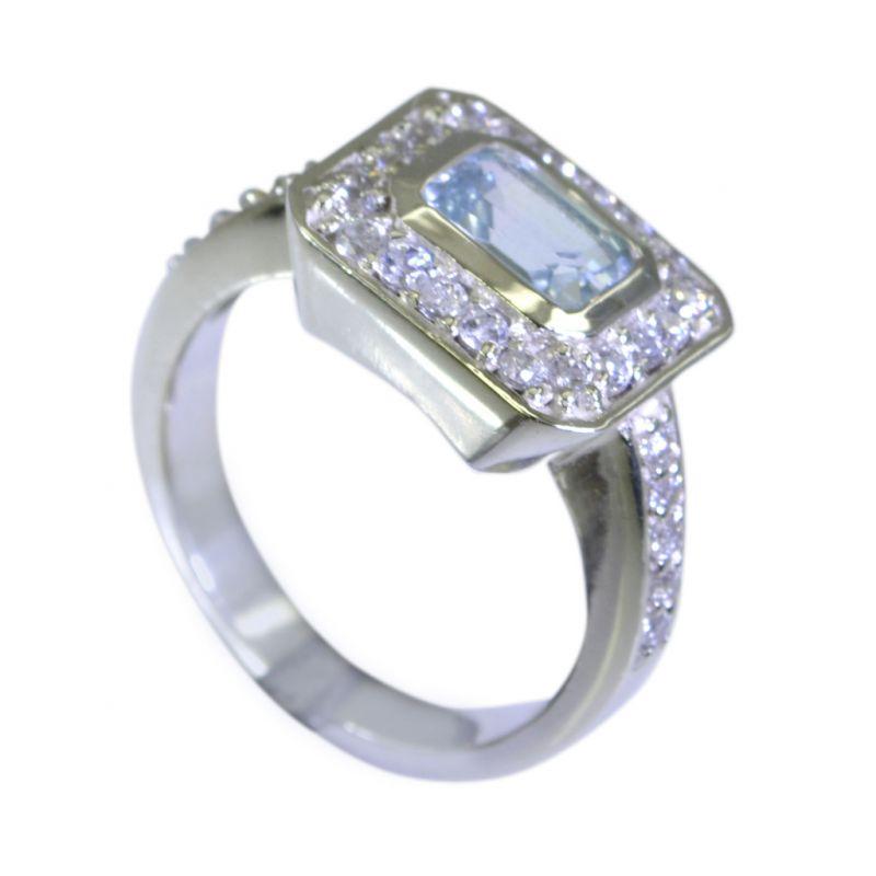 Buy Riyo Blue Topaz India Silver Jewellery Claddagh Ring Sz 7 Srbto7-10026 online
