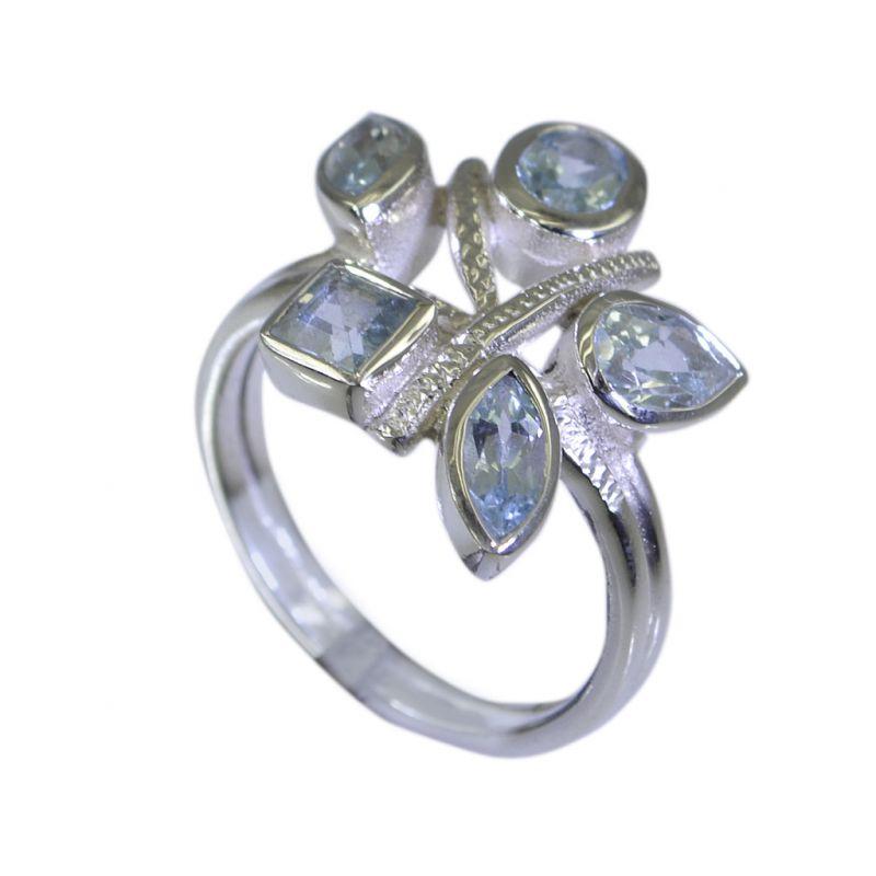 Buy Riyo Blue Topaz Inexpensive Silver Jewelry Indian Sz 7 Srbto7-10033 online