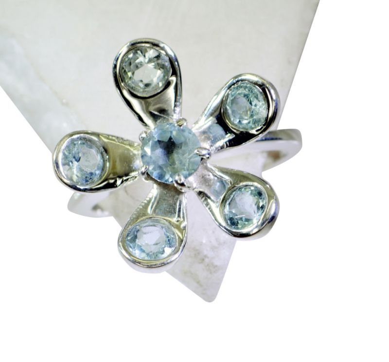 Buy Riyo Blue Topaz Real Silver Jewelry Mothers Ring Sz 8 Srbto8-10079 online