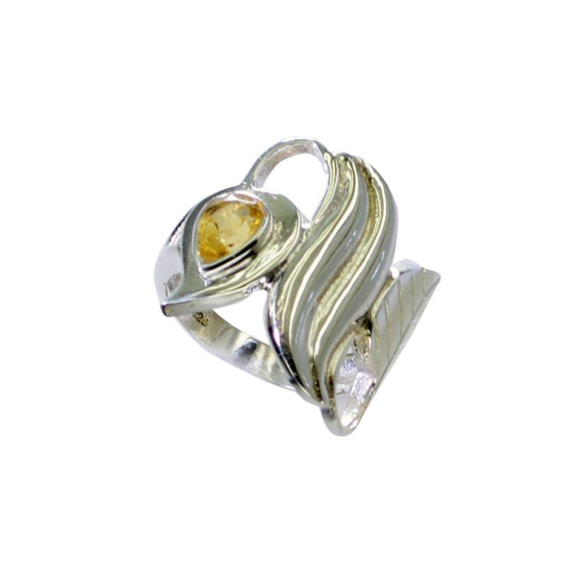 Buy Riyo Citrine Silver S In India Silver Wave Ring Sz 6 Srcit6-14059 online