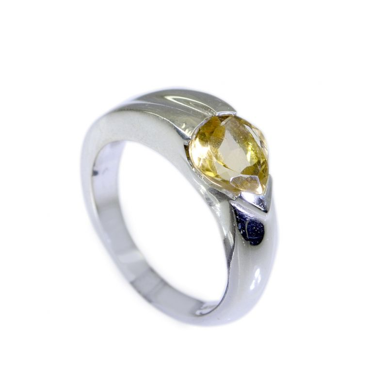 Buy Riyo Citrine Silver For Jewelry Ring Silver Sz 7 Srcit7-14016 online