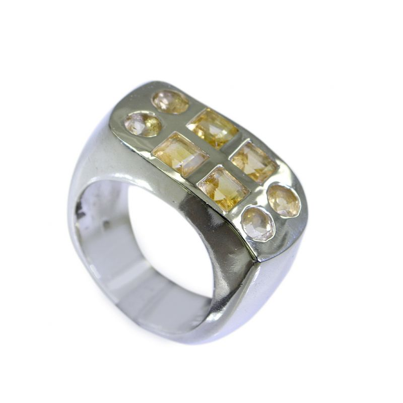 Buy Riyo Citrine Silver Forest Jewelry Ring Silver 925 Sz 7 Srcit7-14017 online