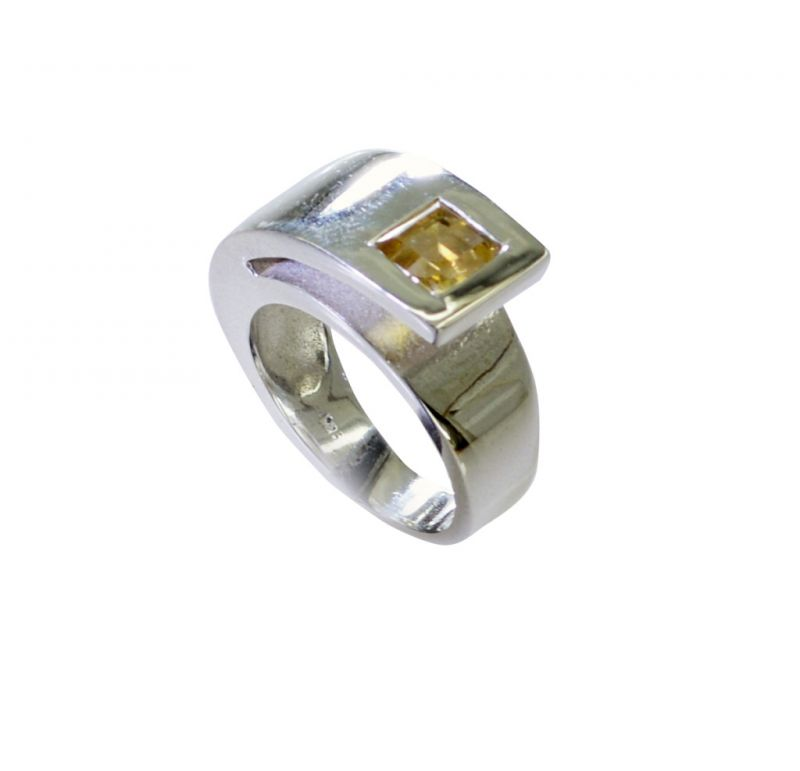Buy Riyo Citrine Silver Online India Simple Silver Ring Sz 7 Srcit7-14061 online