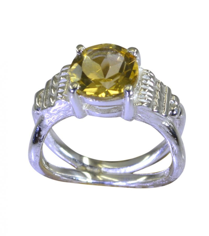 Buy Riyo Golden Citrine 925 Solid Sterling Silver Individualist Ring Srcit70-14079 online