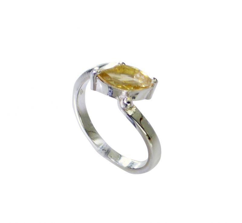Buy Riyo Golden Citrine 925 Solid Sterling Silver Keepsake Ring Srcit70-14099 online