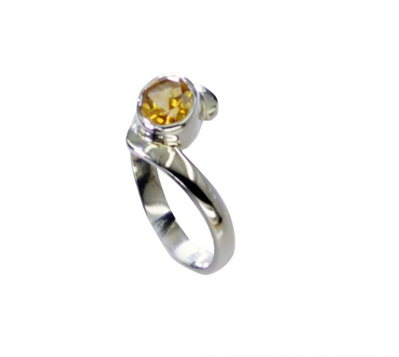 Buy Riyo Citrine Silver Jewellery Stores Wholesale Silver Ring Sz 7.5 Srcit7.5-14069 online