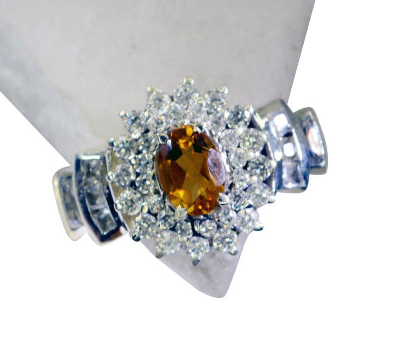 Buy Riyo Citrine Silver Jewellery Gifts Silver Sister Ring Sz 8 Srcit8-14051 online