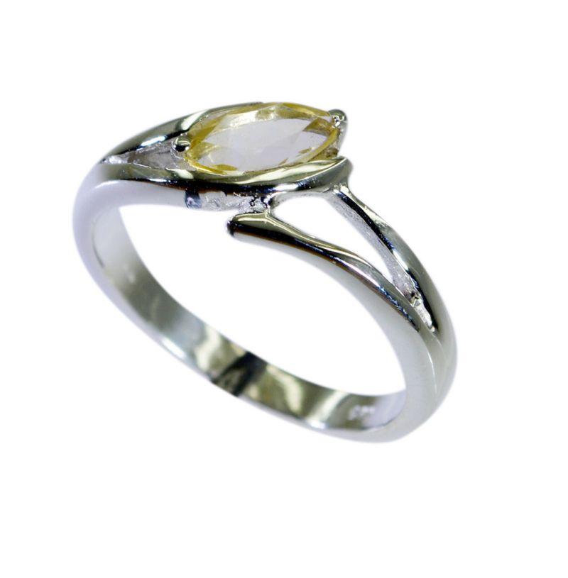Buy Riyo Yellow Citrine 925 Solid Sterling Silver Masculine Ring Srcit80-14089 online