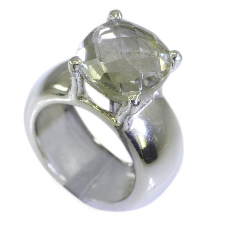 Buy Riyo Green Amethyst Wholesale India Ecclesiastical Ring Sz 5.5 Srgam5.5-28002 online