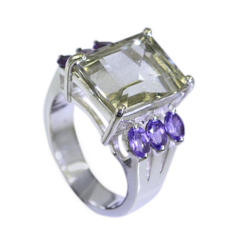 Buy Riyo Green Amethyst Silver Jewellery With Gemstones Indian Sz 6 Srgam6-28006 online