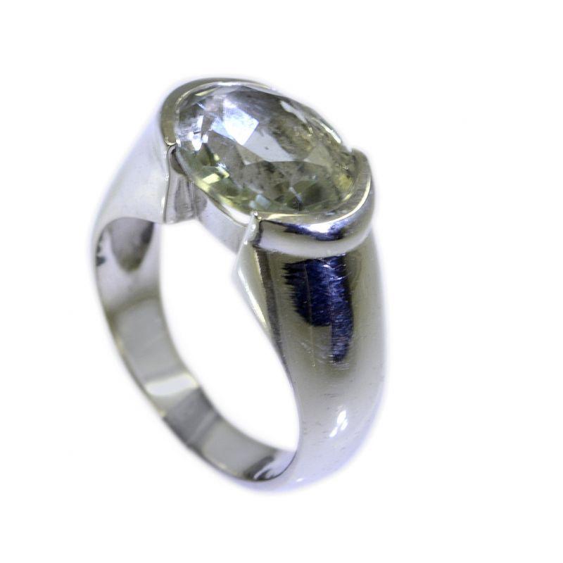 Buy Riyo Green Amethyst Silver Jewelry 925 Gems Sz 6 Srgam6-28010 online