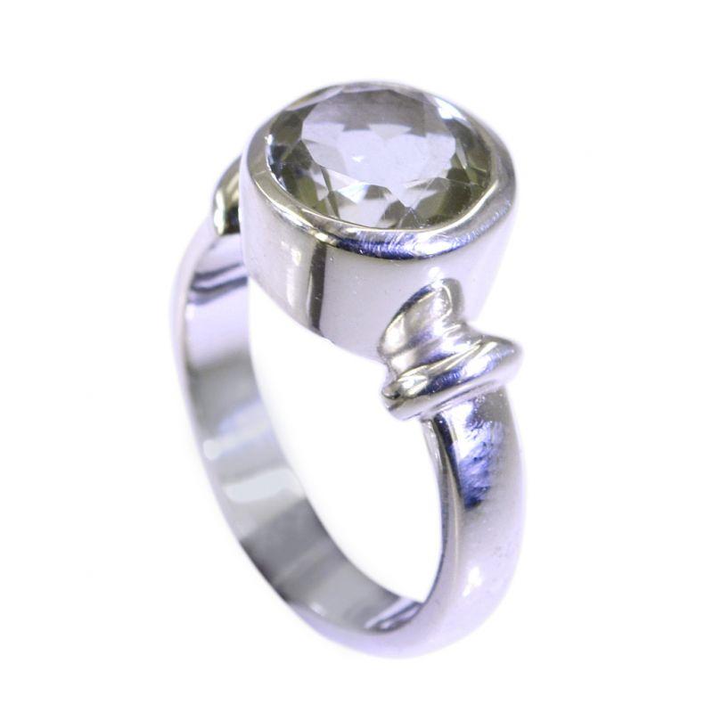 Buy Riyo Green Amethyst Silver Jewelry Artists Aqiq Ring Sz 6 Srgam6-28011 online