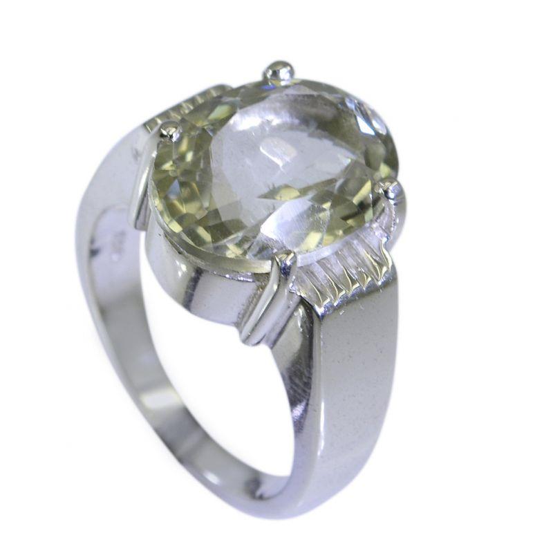 Buy Riyo Green Amethyst Silver Jewelry Casting Regards Ring Sz 6 Srgam6-28015 online