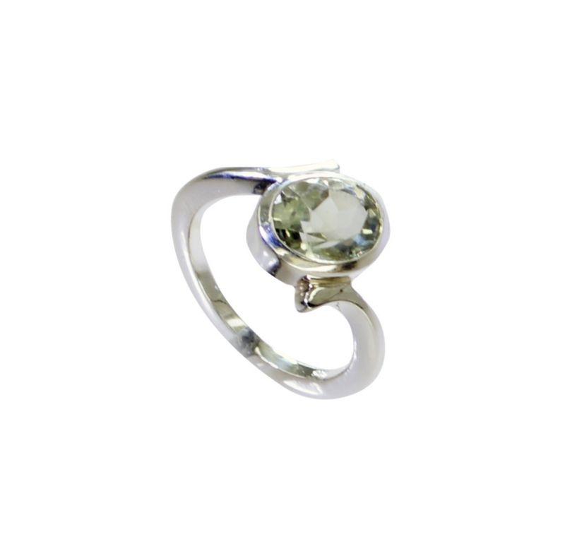 Buy Riyo Green Amethyst Silver Jewelry Women Cheap Silver Ring Sz 6 Srgam6-28073 online