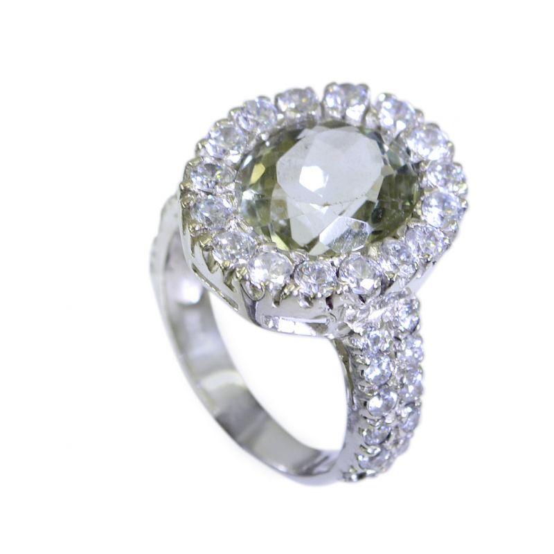 Buy Riyo Green Amethyst Silver Jewelry Company Wedding Bands Sz 7 Srgam7-28020 online