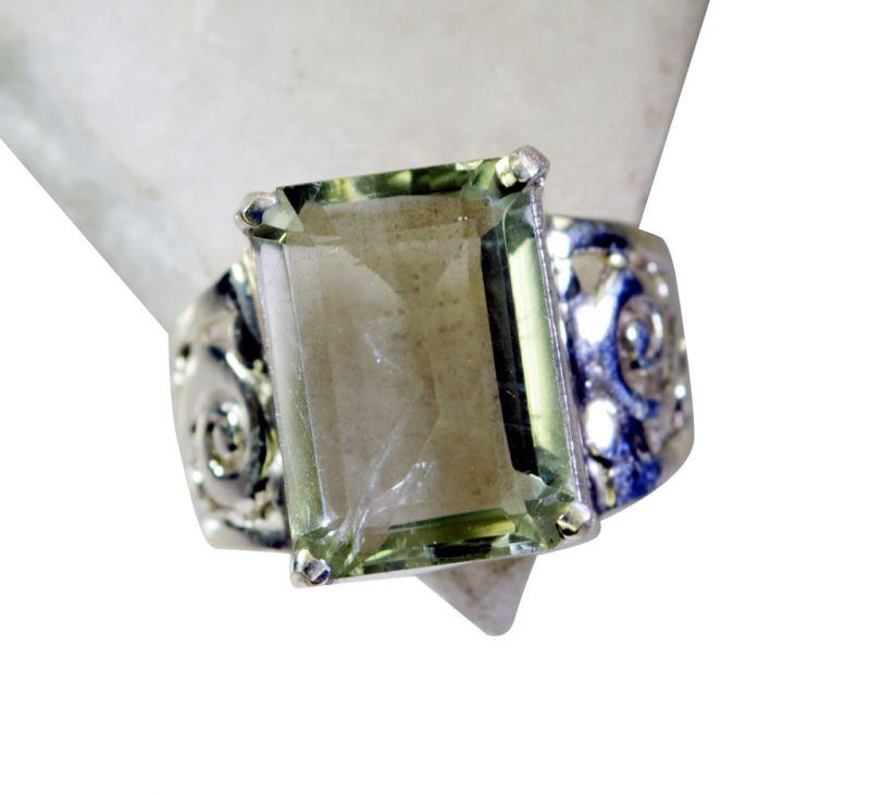 Buy Riyo Green Amethyst Silver S Engagement Ring Sz 7 Srgam7-28047 online