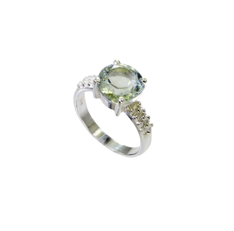 Buy Riyo Green Amethyst Silver Jewelry With Stones Buy Silver Ring Sz 7 Srgam7-28072 online