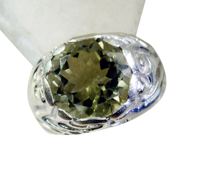 Buy Riyo Green Amethyst Silver Jewelry Jaipur Aqiq Ring Sz 7.5 Srgam7.5-28043 online