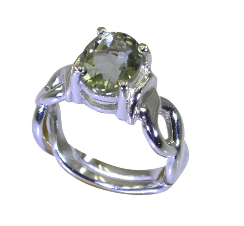 Buy Riyo A Green Amethyst 925 Solid Sterling Silver Reflective Ring Srgam80-28081 online