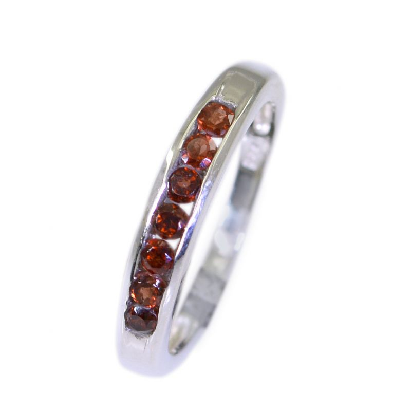 Buy Riyo Garnet Silver Modern Jewellery Heavy Silver Ring Sz 5 Srgar5-26003 online