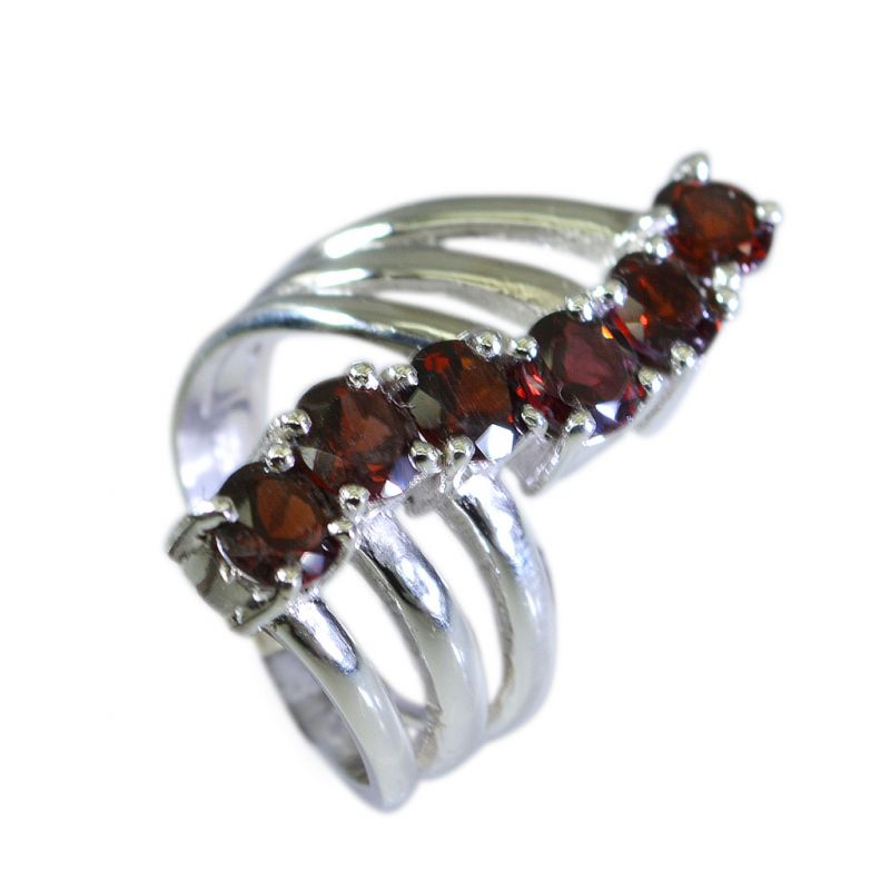 Buy Riyo Garnet Silver Tribal Jewelry Silver Infinity Ring Sz 6 Srgar6-26021 online