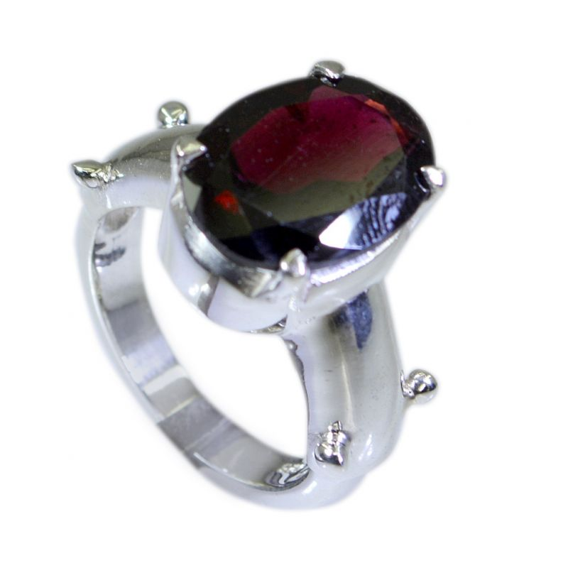 Buy Riyo Garnet So Silver Jewellery Silver Ring Design Sz 6 Srgar6-26032 online