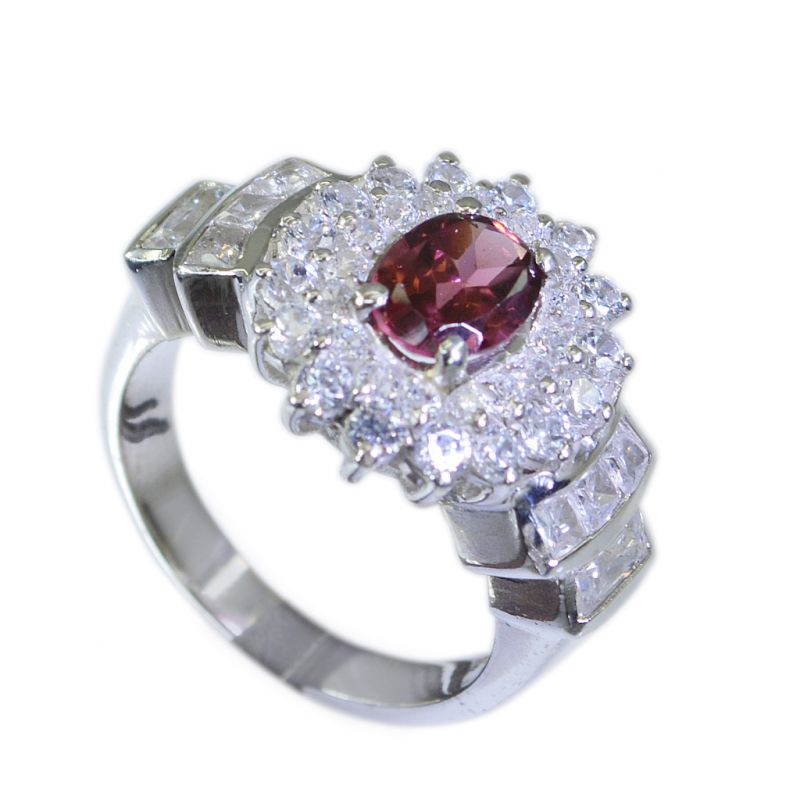 Buy Riyo Garnet Solid Silver Jewellery Silver Ring Designs Sz 6 Srgar6-26033 online