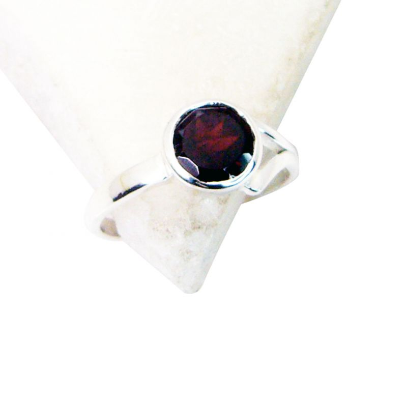 Buy Riyo Garnet Best Silver Jewellery Ecclesiastical Ring Sz 6 Srgar6-26115 online