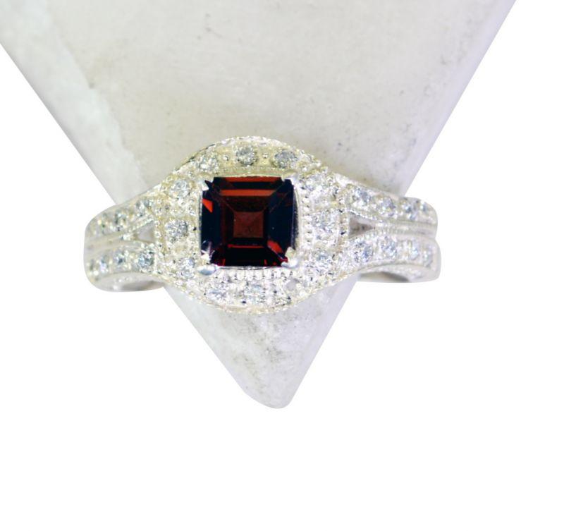 Buy Riyo Garnet Buy Silver Jewelry Sports Ring Sz 6 Srgar6-26127 online