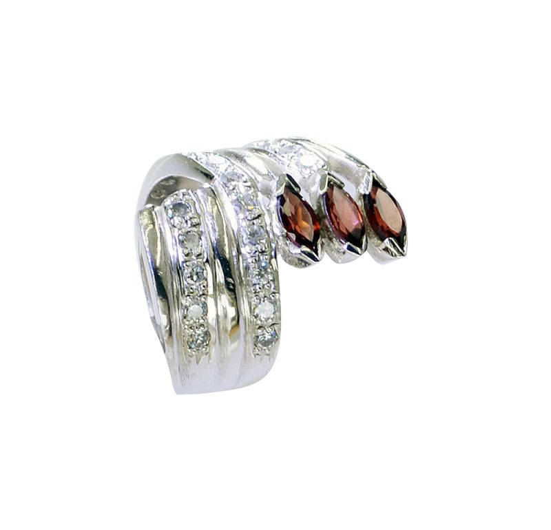 Buy Riyo Garnet Handmade Contemporary Silver Ring Sale Sz 6 Srgar6-26209 online