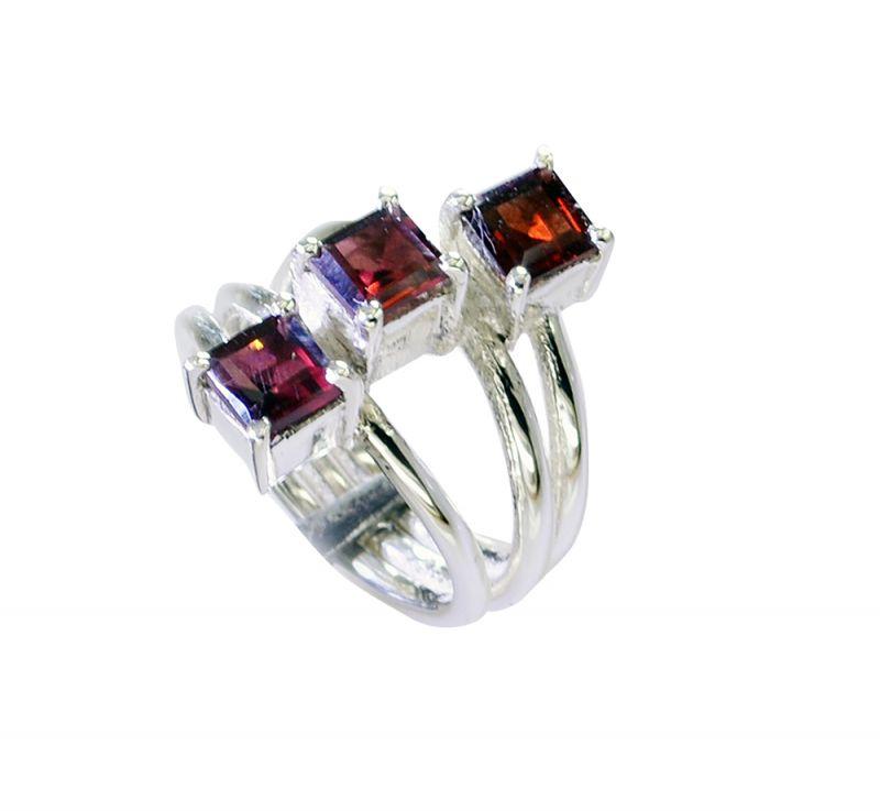 Buy Riyo Garnet India Silver Jewellery Silver Thumb Ring Sz 6 Srgar6-26222 online