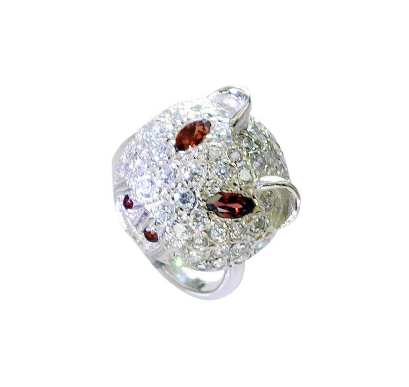 Buy Riyo Garnet Inspirational Silver Jewelry Thick Silver Ring Sz 6 Srgar6-26230 online