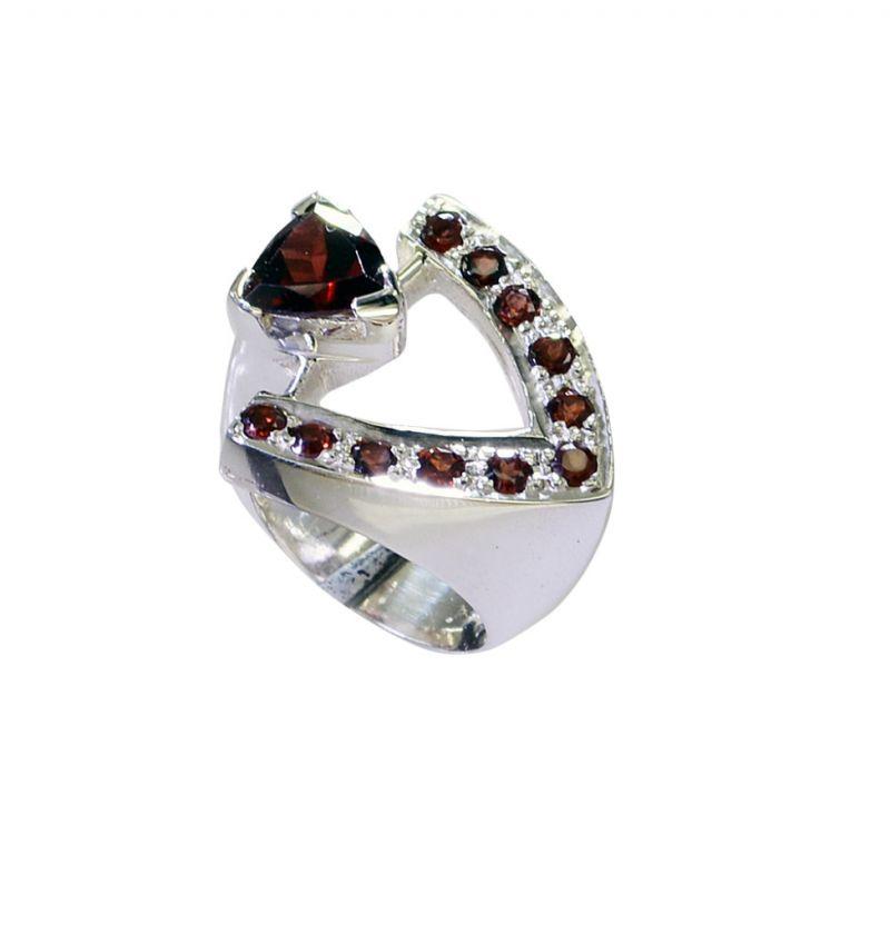 Buy Riyo Garnet Luxury Silver Jewelry Ecclesiastical Ring Sz 6 Srgar6-26243 online