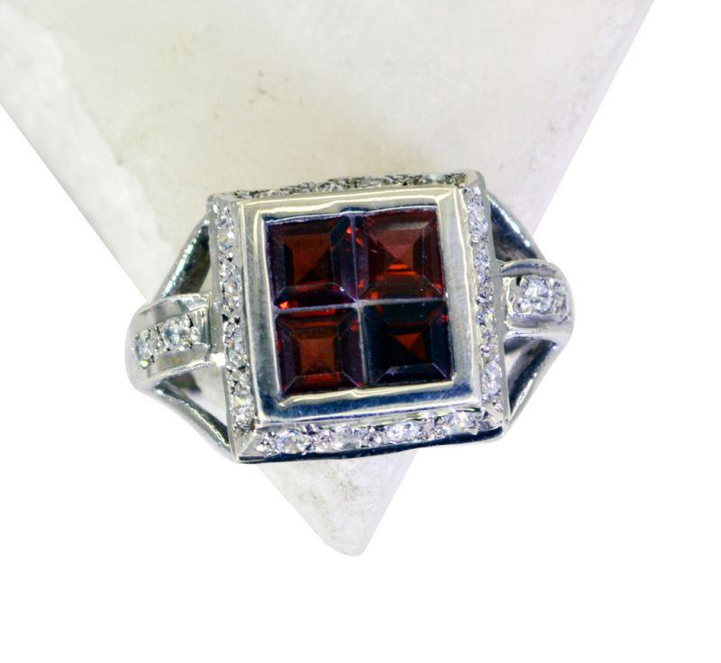 Buy Riyo Red Garnet 925 Solid Sterling Silver Scratchresistant Ring Srgar60-26263 online