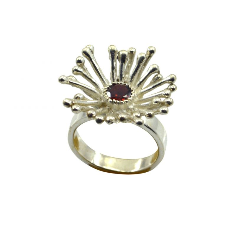 Buy Riyo Red Garnet 925 Solid Sterling Silver Set Ring Srgar65-26255 online