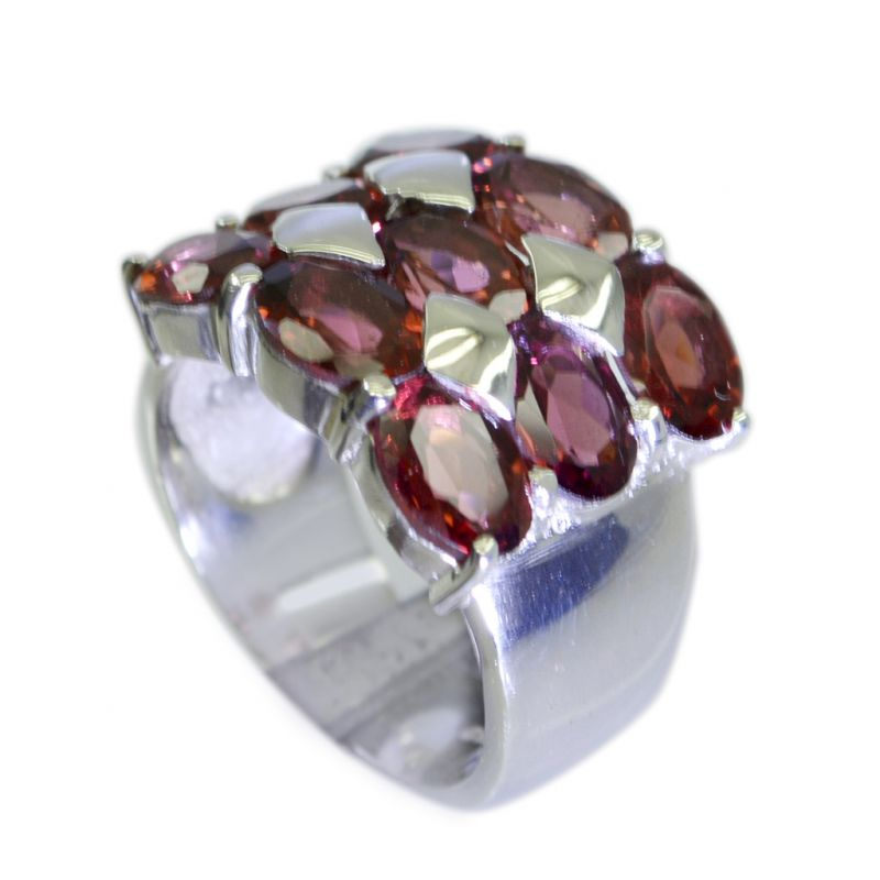 Buy Riyo Garnet Unique Silver Jewellery Silver Toe Ring Jewelry Sz 7 Srgar7-26052 online