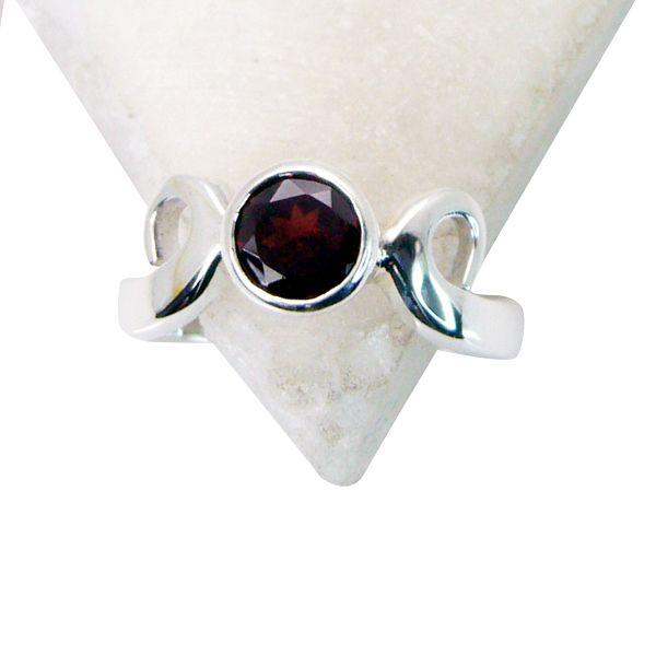 Buy Riyo Garnet Cool Silver Jewelry Mourning Ring Sz 7 Srgar7-26154 online