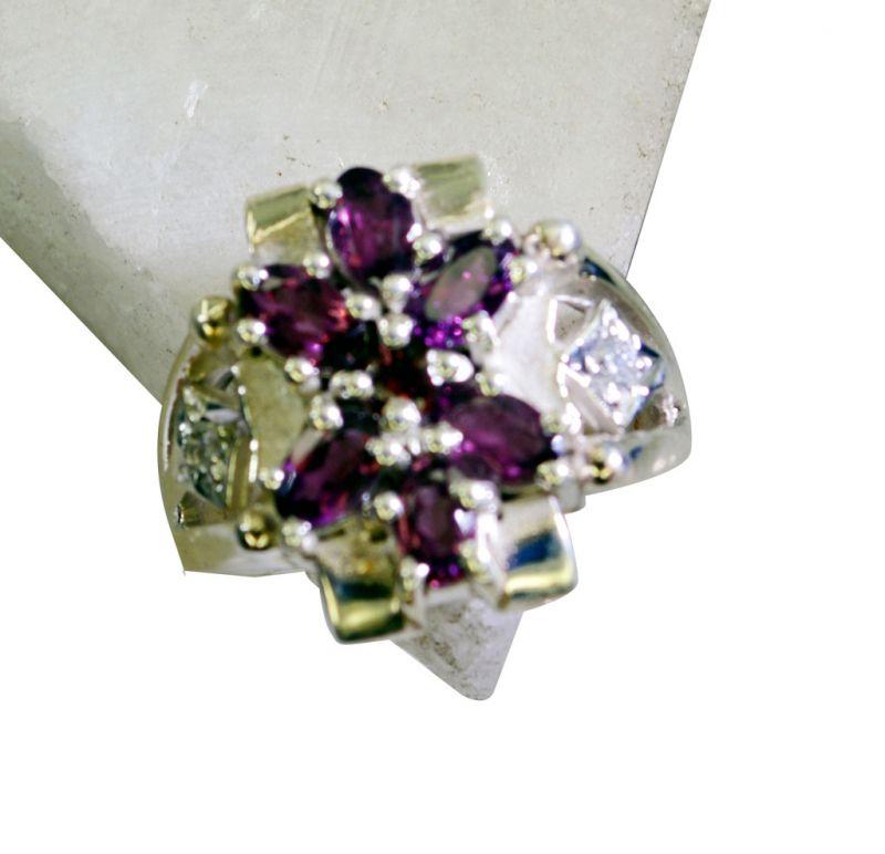 Buy Riyo Garnet Elegant Silver Jewellery Couple Ring Silver Sz 7 Srgar7-26168 online