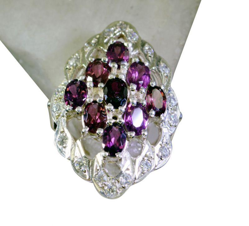 Buy Riyo Garnet Childrens Silver Jewellery Class Ring Sz 7.5 Srgar7.5-26142 online