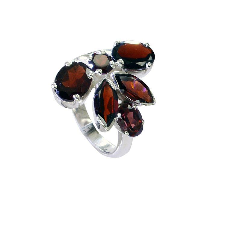 Buy Riyo Garnet Indian Jewelry Silver Silver Twist Ring Sz 7.5 Srgar7.5-26224 online