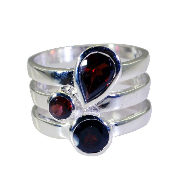 Buy Riyo Garnet Fair Trade Silver Jewellery Man Silver Ring Sz 8 Srgar8-26179 online