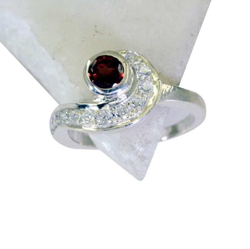 Buy Riyo Garnet Filigree Silver Jewelry Silver Crossover Ring Sz 8 Srgar8-26186 online