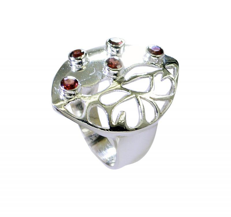 Buy Riyo Garnet Handmade Jewelry Silver Silver Ring Setting Sz 8.5 Srgar8.5-26212 online