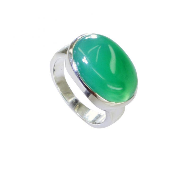 Buy Riyo Green Onyx Old Silver Jewelry Finger Armor Ring Sz 7 Srgon7-30003 online