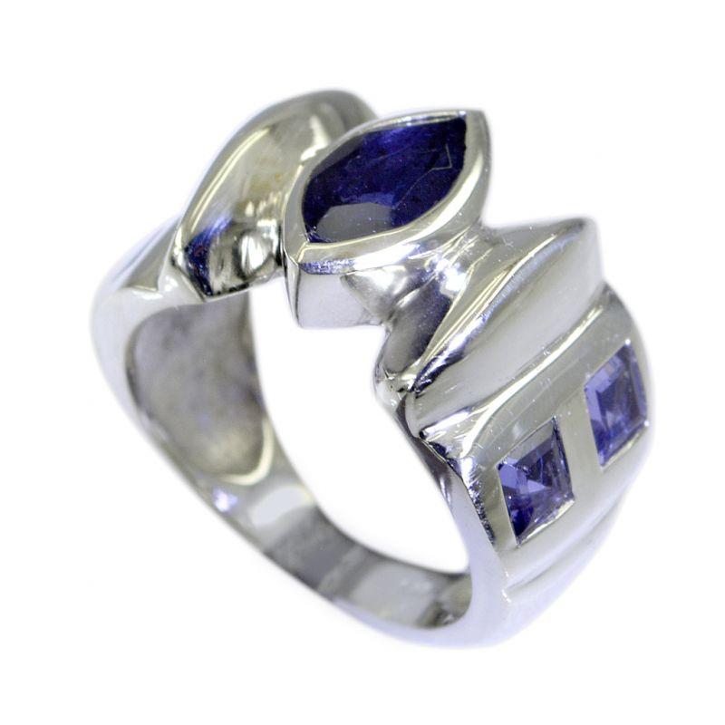 Buy Riyo Iolite Rajasthani Silver Jewellery Gimmal Ring Sz 7 Sriol7-38018 online